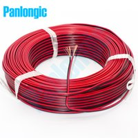 Wholesale 5 Meters Pin Red and Black RVB Electronic Wire Square mm PVC Parallel Copper Electronic Cable for LED Battery
