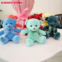 Wholesale Ted Christmas Bear - 21cm Kawaii Small Teddy Bears Plush Soft Toys Stuffed Animals Ted Dolls for Children girlfriend Gifts teddy bear free shipping