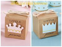 caixas favoritas de doces favoritas venda por atacado-30 pçs / lote venda quente 2015 caixa do favor do bebê de Little Princess Kraft caixa de favor para a decoração do bebê caixa de doces e caixa de favor do partido do bebê