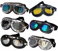 Wholesale sale designer eyewear resale online - New High quality motorcycle goggles Scooter Steampunk Cruiser Helmet Goggles Eyewear protector top sale GT001