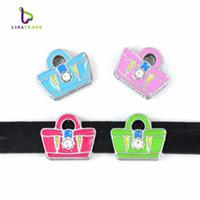 "Wholesale Spiked Wristbands - 10PCS! 8MM ""bag & Skirt"" Slide Charm DIY accessory Fit 8mm Wristband & Belt  Pet Collar (7 styles can choose) LSSC64-159*10"