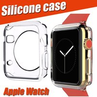 Wholesale Silicone Watch Covers - 38mm 42mm New Ultra Thin Slim Transparent Crystal Clear Soft TPU Rubber Silicone Protective Cover Case For Apple Watch iWatch Series 1 2 3