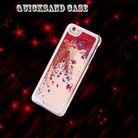 Gros flottant glitter coeur courant Quicksand Liquid Dynamic Hard Case clair transparent brillant couverture pour iPhone4 4s 5 5s 6 iphone 6 p