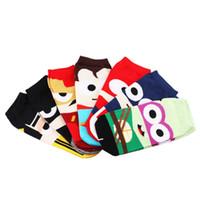 Wholesale making cartoon movies - Fashion men's socks 7 colors cute cartoon ankle socks cool breathable 100% cotton unisex superhero socks for man