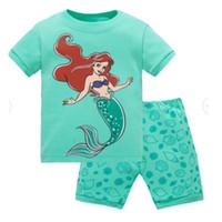 Wholesale Cotton Pajamas Sports - Brand Summer Kids Girls Boys Print Pajamas Short Sleeve sports shortsSet Cartoon Pijamas Sleepwear Toddler Pyjamas Clothing SP86