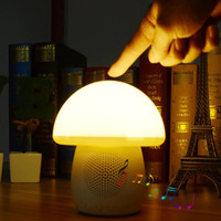 2016 Dimmble Mushroom Table Lamp Night Light Bluetooth Wireless Speaker estéreo portátil Speaker Tap Control TF AUX pacote de varejo