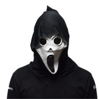 Wholesale Latex Scream Mask - Scary Ghost Scream High Quality Mask Horror Halloween Costume Props Adult Latex Party Mask Free Shipping