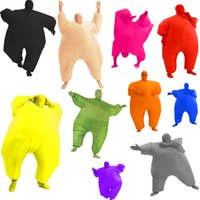 Wholesale Inflatable Carnival - quality Adult Inflatable Chub Suits Blow Up Blue Green Red Purple Pink Color Full Body Christmas Party Cosplay Costume Jum