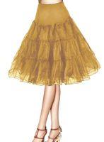 kısa tutu kadın etekleri toptan satış-Vintage Kısa 2018 Kadın 50 s Kombinezon Rockabilly Tutu Fanilalar Yarım Fiş Parti Petticoat Etekler Tutu Salıncak Etek Fanila Kabarık Etek