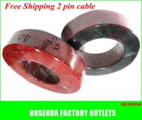 rollo de alambre led al por mayor-10m / lote 2pin cable de cable de cobre eléctrico para 3528/5050/5630 tira de luz led de un solo color y módulos, etc. rollo