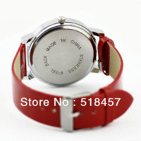 Red Band New Livraison gratuite Cute Cat Impression Femmes montre à quartz montre en cuir
