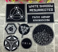 Wholesale Patches Sewn - GP-60 multicolor white shadow resurrected patches TRI sew on patch Applique Fallout GAME Film cartoon patches sew on patch