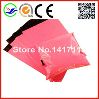 Wholesale Mailing Envelops - Wholesale-100 pcs Newest Pink Color 10x13 inch Poly Mailers Shippng Mailing Bags Plastic Envelops Courier Mailings Postal Bags