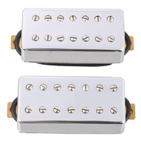 Chrome 7 String Guitar Pickup Set Double Coil Humbucker para LP Guitarra elétrica