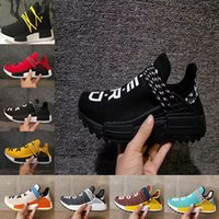 Wholesale Running Shoes Size 47 - New Pharrell x Original HU NMD Trail HUMAN RACE NERD black men women sports sneaker noble ink pale nude running Shoes size 36-47