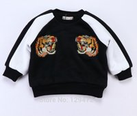 Оптовые продажи 2017 3D TIGER FASHION KIDS HOODIES ДЕТСКАЯ ОДЕЖДА SWEATSHIRTS TOPS BABY BOY CLOTHES BABY GIRL CLOTHES VETEMENT ENFANT GARC
