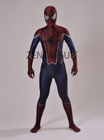 TV & Movie Costumes spider man costumes for sale - Punk Spiderman Costume D Printing spider man costumes spandex zentai suit for halloween and cosplay party hot sale