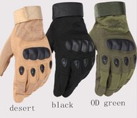 Wholesale Green Racing Gloves - Army tactical glove full finger outdoor glove anti-skidding sporting gloves 3 colors 9 size for option
