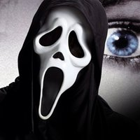 Wholesale Ghost Scream Mask - 5 Styles Halloween Costume Party Mask Scary Vampire Witch Ghost Face Scream Mask with Costume Masquerade Mask IC747