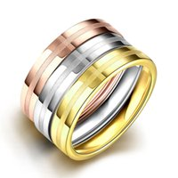 Wholesale Wedding Bands Trends - New Style High-end Fashion Trend Gifts Ring Classic Designer Simple Style 316L Stainless Steel 3 Rings For Women 2016 Wholesale Price
