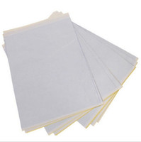 thermische tätowierungstransferblätter großhandel-BaseKey 50 Blatt x Tattoo Thermal Carbon Schablone Transfer Papier Tracing Kit A4