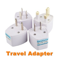Wholesale Ac Charger Connector - Universal Travel Adapter AU US EU to UK Adapter Converter,3 Pin AC Power Plug Adaptor Connector