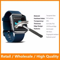 Wholesale Soft Glass Wholesale - Hot Soft Anti-scratch Flim Clear Screen Protector for Fitbit Blaze Tempered Glass Flim Smart Watch Screen Protector