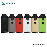 100% Original Eleaf iCare 2 Starter Kit 2ml Eleaf iCare 2 Atomizer 650mah Battery AIO Style con LED E Cig Vape Pens Kit Auténtico