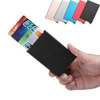Wholesale Purse Protectors - Credit Card Holder Unisex Aluminium Wallet ID Protector Slim Purse Portable
