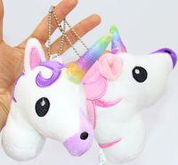 Wholesale Kawaii Charm Plush - Plush Unicorn Keychain Horse Keyring Phone Charms Handbag Pendant Stuffed Animal Dolls Kids Gift Kawaii Toys
