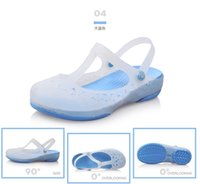 Wholesale Jelly Shoes Laces - 2017 New Women summer jelly shoes beach sandals hollow slippers flip flops women light sandalias women beach shoes