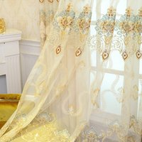 Wholesale Window Luxury Curtain - Beautiful European Embroidery Curtain Luxury Living Room Bedroom Curtains High Quality Curtain For Home Hotel #Gauze
