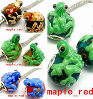 Wholesale Lampwork Frog Charm - 20pcs Lot High Quality Frog Murano Glass Beads for Jewelry Making Loose Lampwork Charms DIY Beads for Bracelet Wholesale in Bulk Low Price