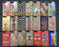 Wholesale painted tiger - Luxury brand Embroidered Painted Tiger Snake Hard Case For apple iphone 6 6s 7 plus phone shell for iphone 7 7plus 8 8plus back cover