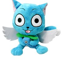"""Wholesale Happy Plush Fairy Tails - Hot Sale Japanese Anime Cartoon Fairy Tail Happy 10"""" Plush Toy Stuffed Animals Plus Toy Gifts"""