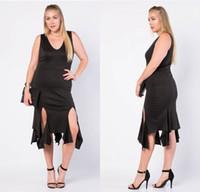 Wholesale Irregular Vest Dress - Newes 2016 Stylish Plus Size Womens Dresses Vest Tank Dress Irregular Style Casual Summer Sleeveless V Neck Ladies Dress Clothing QZ921