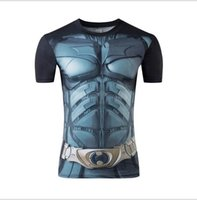 Neue 2017 Gym 3D Compression Shirt Fitness Männer Superheld Comics Superman Lauf Quick Dry Strumpfhosen Kleidung Kurzarm T-shirt