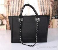 Wholesale Pure White Handbags - Famous Brand luxury new 2017 M handbags fashion bags Women denim Shoulder Bag bag designer canvas handbags bolsa pure color