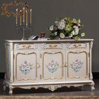 muebles antiguos franceses franceses barroco handcraft grieta gabinete de piso de pintura