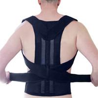 Wholesale Back Corrector Men - Adjustable Back Posture Corrector Brace Back Shoulder Support Belt Health Care Posture Supports Correction Belt for Men Women