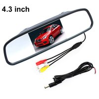 "Wholesale Tft 2ch - 2CH Video Input 4.3"" TFT LCD Color Auto Parking Assistance Monitors 4.3 Inch Car Mirror Monitor For Rear View Camera"