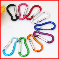 Wholesale Climbing Carabiners Wholesale - S mini Aluminum multitool button Carabiner keychain Durable camping hiking Carabiner key ring Snap Clip Hooks EDC hangs 250081