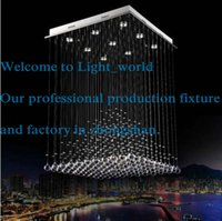 Wholesale Contemporary Crystal Ceiling Light Fixtures - Modern led chandelier Luxury ceiling lamp Contemporary home decoration Pyramid design k9 crystal lighting fixture Free shipping 1272