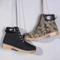 botas premium al por mayor-A estrenar Classic Fashion Men 6-Inch Premium Boots impermeable Trigo exterior Nubuck botas Martin botas tamaño 36-46