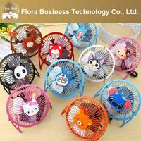 Wholesale Summer Cute Fan - New Arrival Cute Cartoon Pattern USB Micro 5V 2W 50HZ Mini Portable Summer Phone Fan for USB