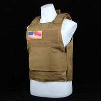 Wholesale Tactical Neck Armor - USMC US Army Airsoft Tactical Vest MOLLE Soft Or Hard Armor Plate Carrier Security Self-defense Plate Carrier Equipment