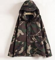 Wholesale Men S Sleeveless Jackets - Tactical Camouflage Jacket Men Women Plus Size Camo Hooded Windbreaker Jackets Military Canvas Jacket Parka Fashion Streetwear