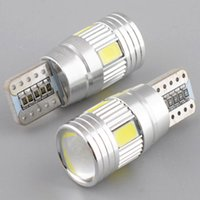 Wholesale Light Canbus - Car Led Light Canbus Bulb T10 5630 6SMD Decode W5W ,Lens LED Width Lamp T10 Wedge Clearance Lights