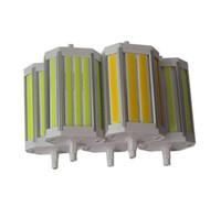 Wholesale R7s Cob - DHl 10pcs lot high power J118mm led cob R7S 30W DimmableJ189mm 50W LED R7S light 220 degree anglereplace halogen lamp AC85-265V