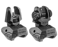 Wholesale Defense FBS RBS Rear and Front Dual Aperture Back Up Sights Set black